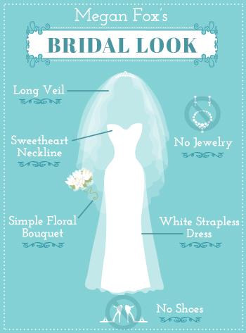 Megan Foxs Bridal Look