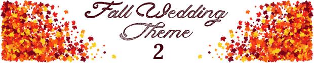 Fall wedding theme 2
