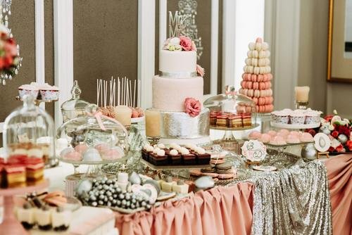 Wedding candy bar of treats