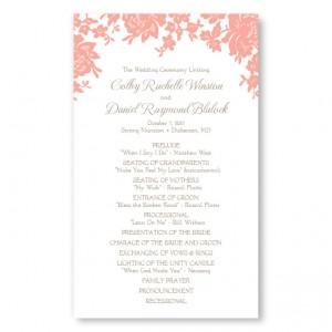 wedding details on floral card