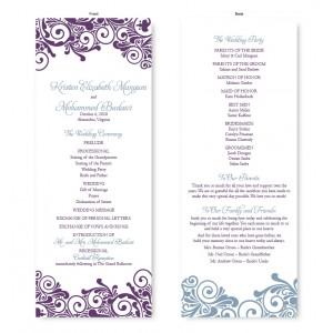 wedding invitation front back with modern design